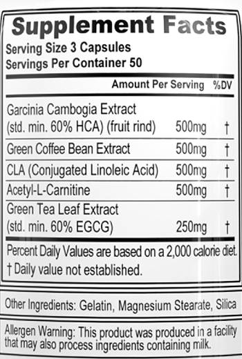 evlution nutrition lean mode ingredients label facts