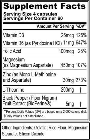 evlution nutrition z-matrix ingredients