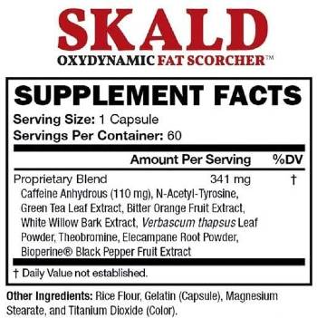 Skald Oxydynamic Fat Scorcher Ingredients