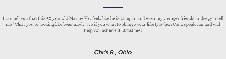 Chris Centrapeak Testimonial