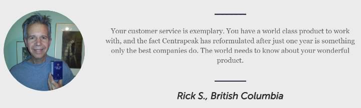Rick S Centrapeak Testimonial