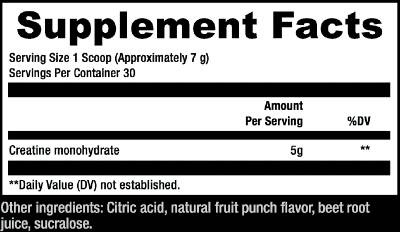 Sculpt Nation Creatine Ingredients